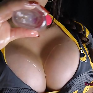 Busty Bartender Sucks and Titfucks Cock after Work - Vanillaandcaramel