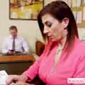 Brunette-milf-Sara-Jay-fucking-in-the-office with her manager hrid