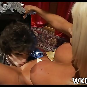 Ramrod stuffs mouth and cunt
