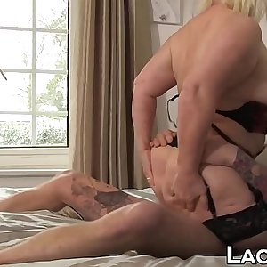 Nasty Lacey Starr slurps big cock before foray