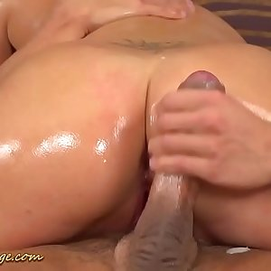real lubricious big cock nuru sex massage