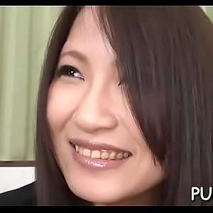 Asian gal takes hard cock and massager in cunt while being seduced