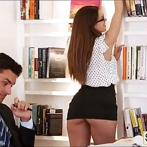 meet horny big tits woman in office