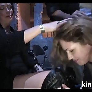 Hot marvelous girl fucked and dominated in real bondage!
