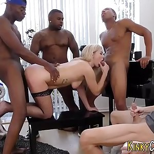 Cummy mouthed cuckold ho