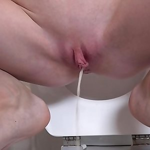My very first pee in the restroom