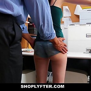 Shoplyfter - Skinny Teenage Blackmailed and Stripped Down