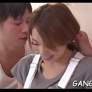 Cute japanese has to give up her wet crack for wild group drilling