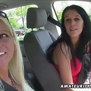 2 hot unexperienced sluts in an outdoor group sex action