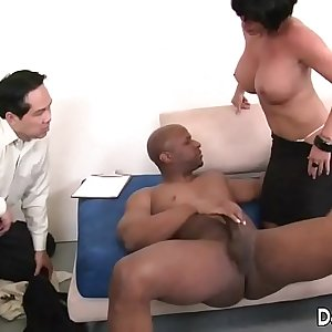 MILF pornstar fucked by a black guy in front of her spouse