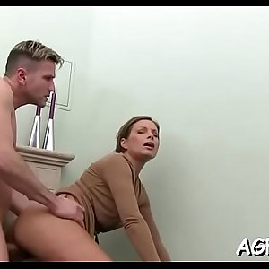 Cunt of female agent is fuked hard