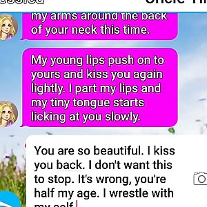 Kind uncle gets naughty with his little niece text sext roleplay 1