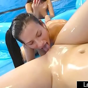 Horny Lesbos (Alexis Deen & Amber Gray) Play In Sex Show On Gauze mov-02