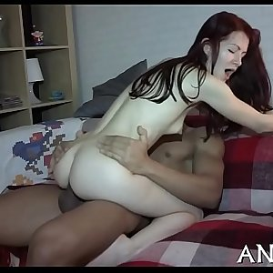 Erotic anal pounding for cute playgirl