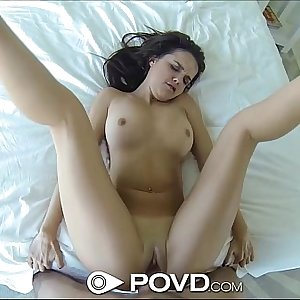 POVd Nice brunette gets dirty after her shower