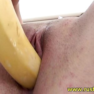 Banana as a sex plaything