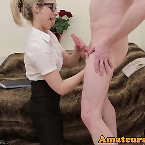 British spex cfnm babe sucking nudists dick