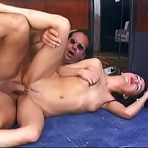 Hot sexy brunette milf loves to get fucked and cummed on all over the office