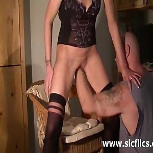 Skinny amateur wife brutally fisted in her wrecked fuckhole
