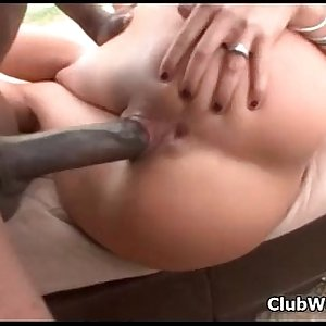 Huge black dick in this tiny chick