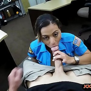 Fat booty officer smashed by pawn dude