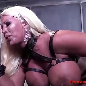 Voluptuous blonde goddess fucked hard