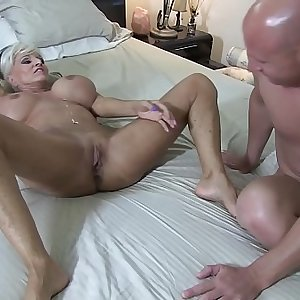 Mean BITCH HOTWIFE fucks BBC in front of her injured CUCK hubby Sally Dangelo