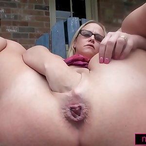 I FIST Myself and SQUIRT outdoors with a HUGE Toy!