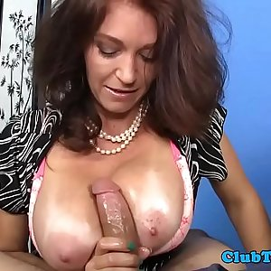 Bigtit mature wanking dick and talks dirty
