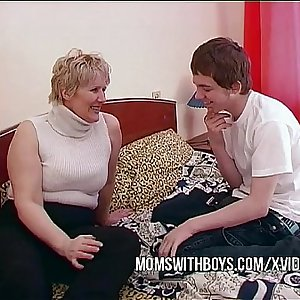 BBW Mature Mom Tempts Sons Friend