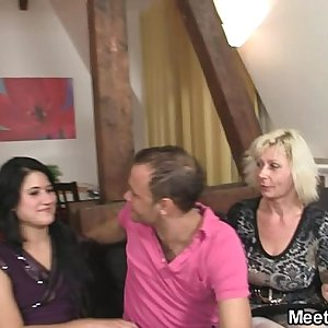 Girlfriend and his family having hookup