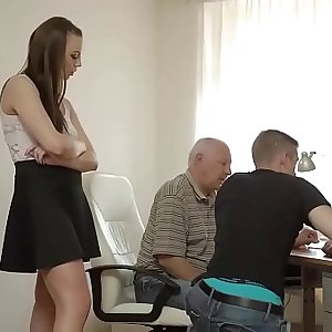 DADDY4K. Bf caught girl having old and youthfull sex with his dad