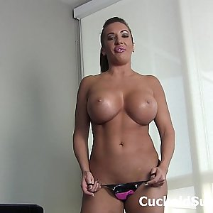 Eat my mans cum, loser cuckold!