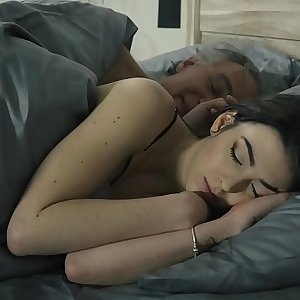 Old and Youthfull Horny young girl seduces grandpa and gets his cock inside her