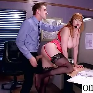 (Lauren Phillips) Slut Chick With Big Tits Love Hard Bang In Office movie-18