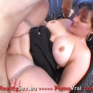 Fat slut fucked ! Grosse salope bien enculee !! French unexperienced