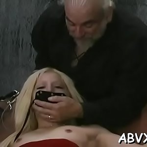 Dishy cutie is testing a faux-cock