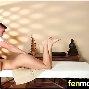 Tanned shaven busty youthfull babe intense orgasm 5