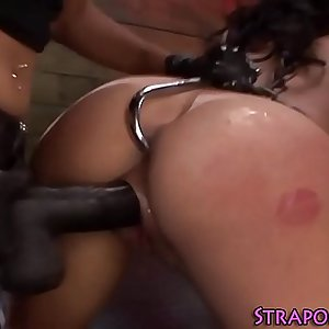 Bdsm domina fucks slave
