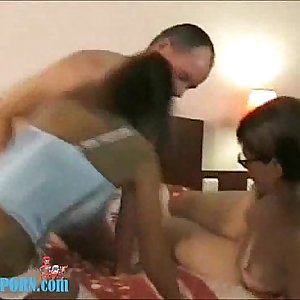 Amateur Foursome On Bad