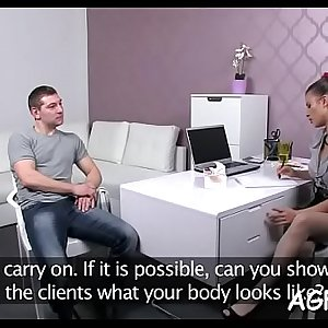 Female agent adores breathtaking hook-up