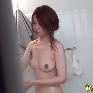 Asian seen in the shower