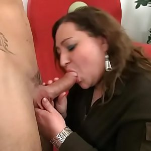 Tasty pizza with cock for cute plumper