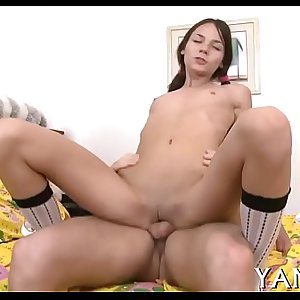 Girl blows cock ready for anal sex