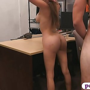 Busty stunner screwed by horny pawn keeper