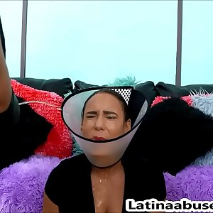 Deep throated latina MILF gets destroyed to her limit
