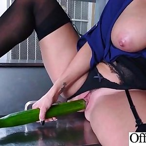 (Ava Addams) Woman With Round Big Tits In Hard Style Sex In Office clip-05