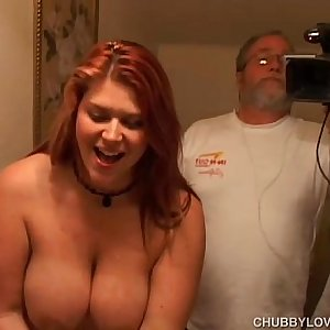 Raunchy crimson head Eden is a cute chubby chick who loves to fuck