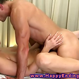 Masseuse gets fucked on the massagetable